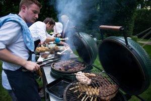 BBQ op locatie met kok