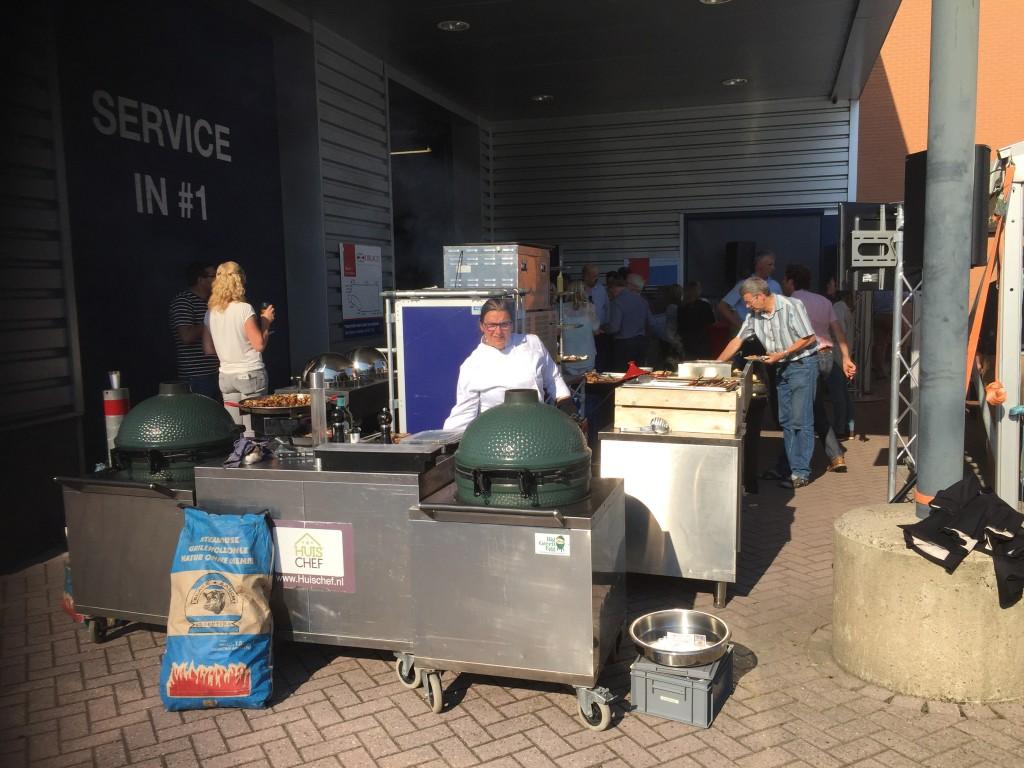 BBQ opstelling bedrijfs feest in Barneveld