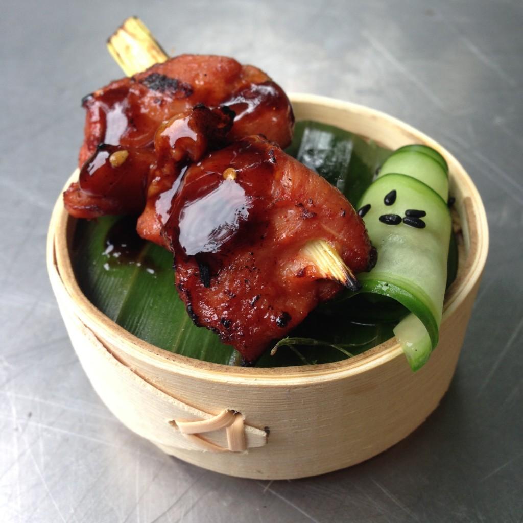 Kip saté op Thaise wijze
