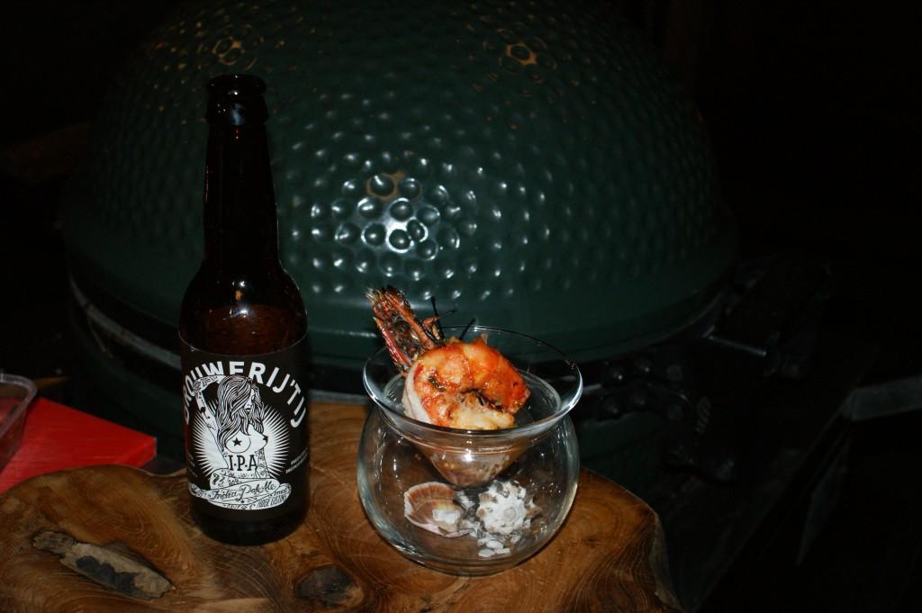 BBQ & Beer - Mega gamba met pittig mango piri-piri chutney  (Brouwerij 'tij pa bier)