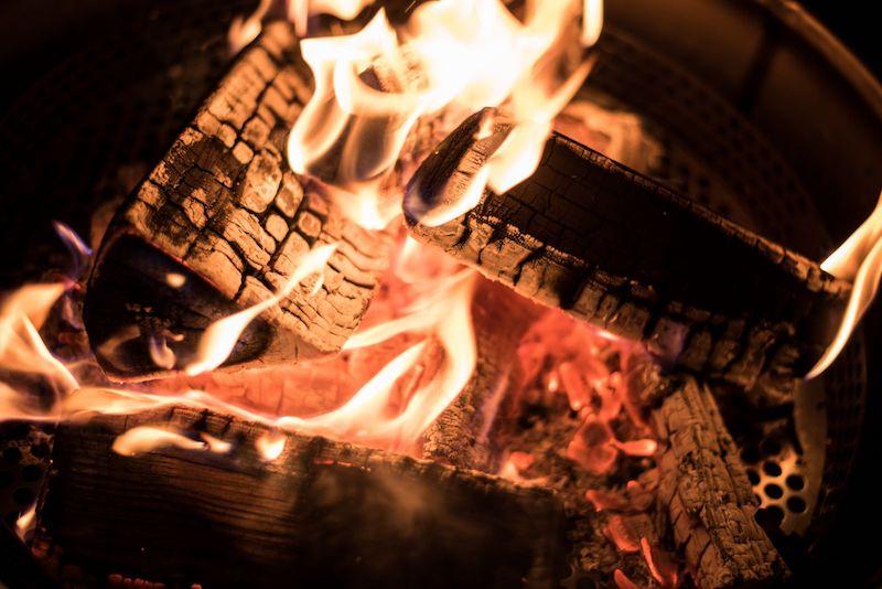 Winter BBQ vuurtje Huischef