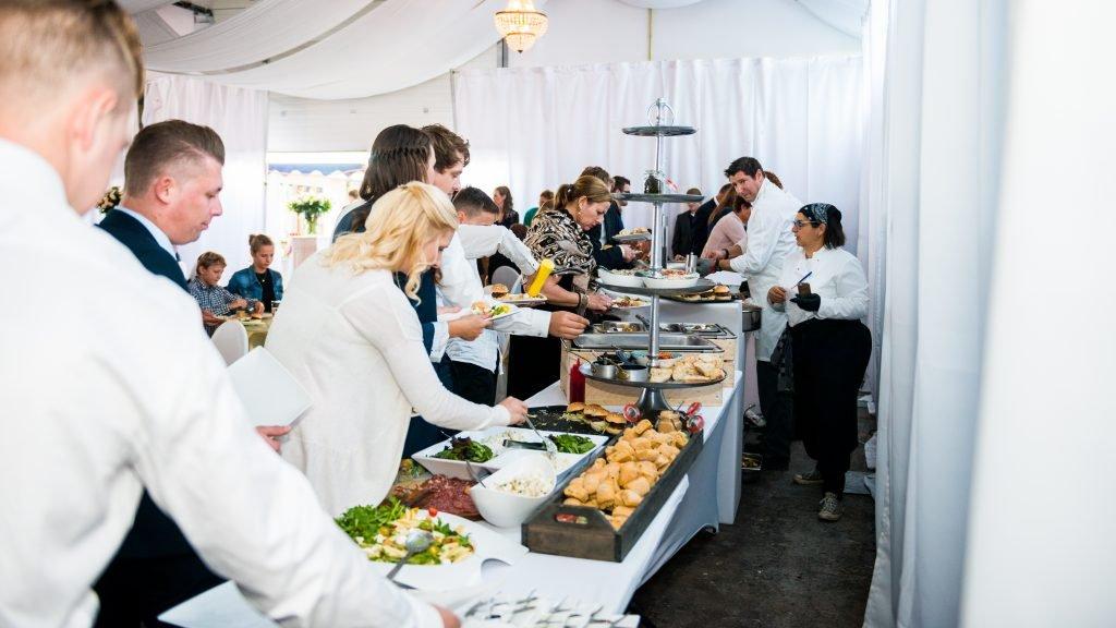 Bruiloft BBQ buffet
