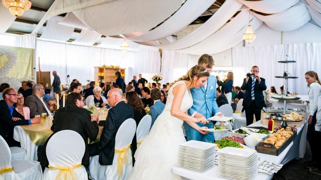 Bruiloft buffet