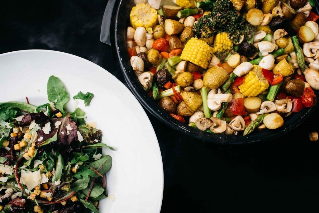 Salade en groenten voor de BBQ