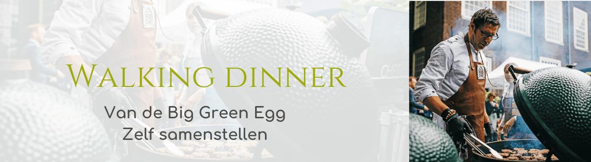 walking dinner big green egg