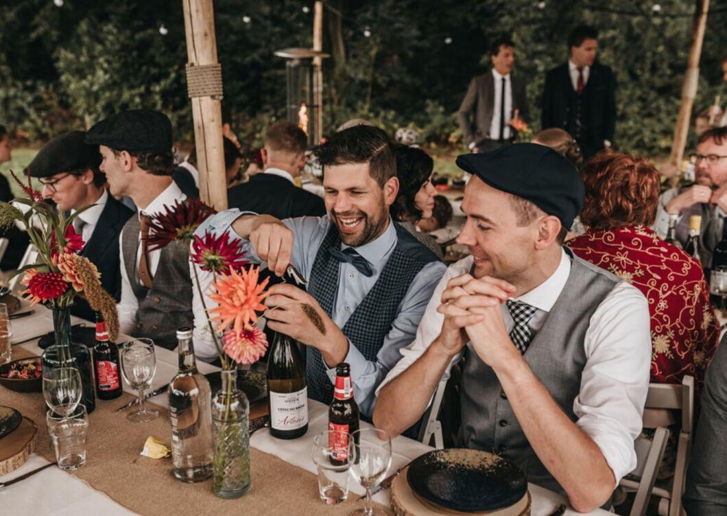 Bruiloft tafelaankleding