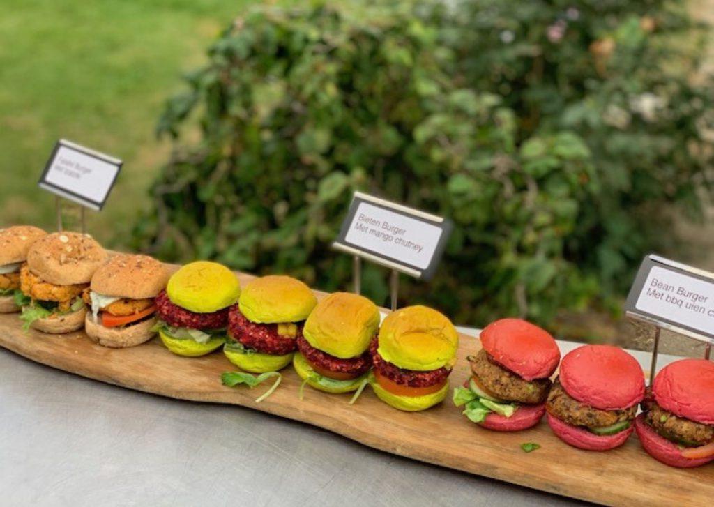 Vegetarische hamugers,Biet, Falafel en Paddenstoelen