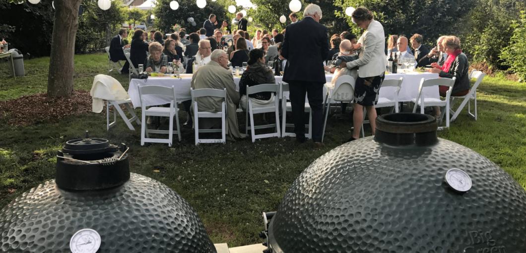 Sitting dinner van de Big Green Egg bruiloft in Soest