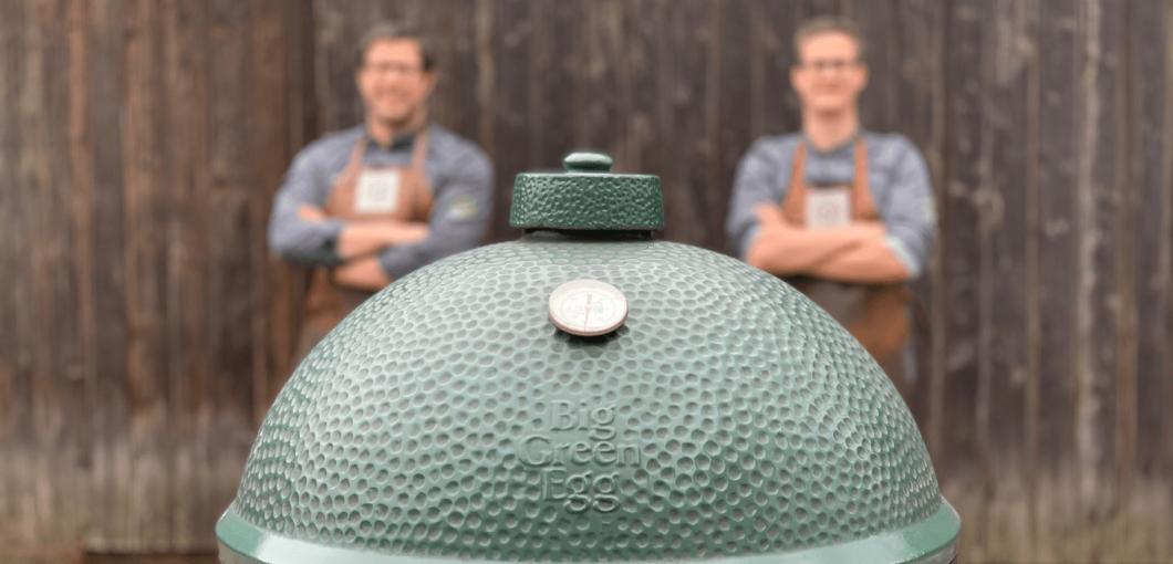 Chef's van Huischef bij Big Green Egg in Amersfoort