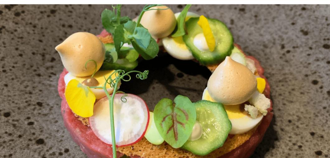 Steak tartaar gerechtje van Huischef de Thuiskok  Catering Amersfoort