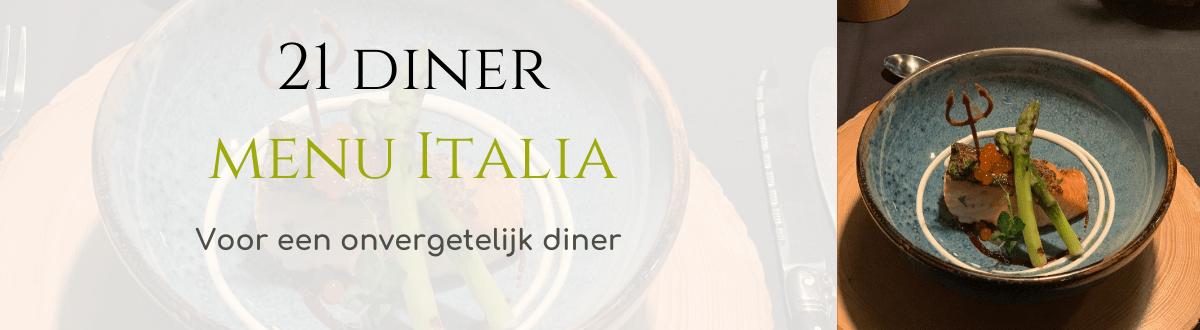21 diner menu Italia