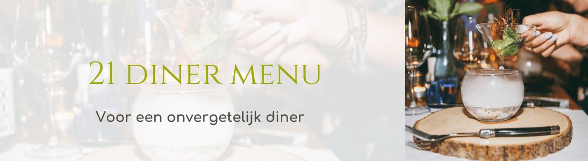 21 diner menu