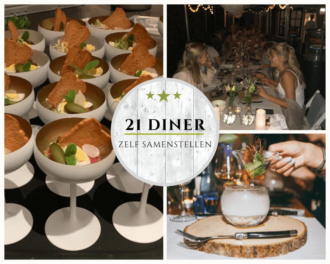 21 diner zels samenstellen