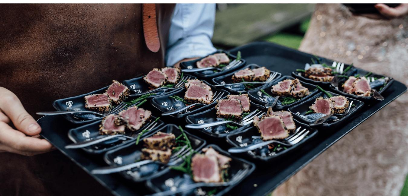 Walking dinner tonijn gerechtje