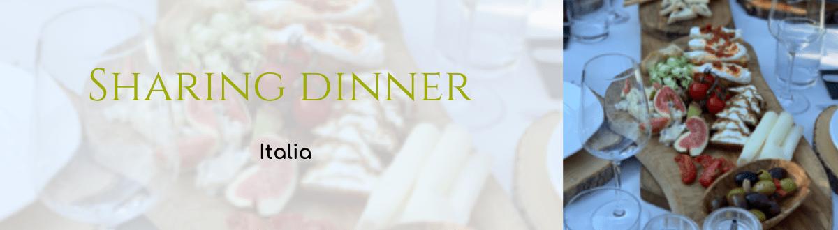 Sharing dinner Italia